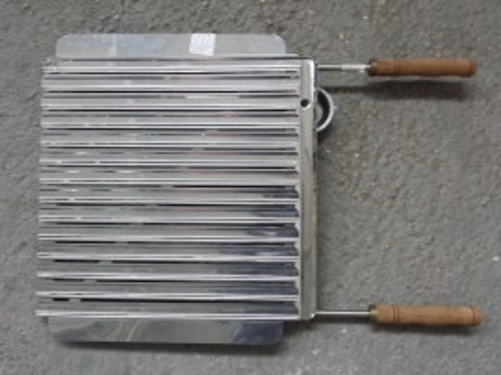 Roštilj ploča sa ručkama 46x40 Inox