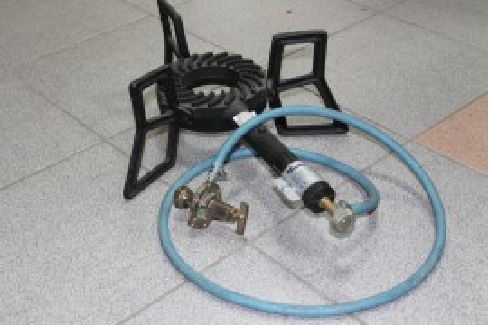 Slika Plinski gorionik komplet - gusani sa crevom i ventilom