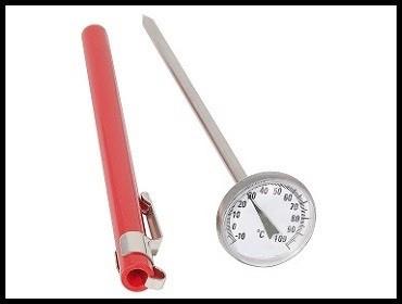 Termometar za toplu vodu sa futrolom