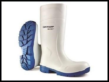 Čizme mesarske bele Dunlop Purofort