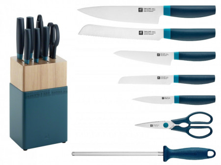 Set noževa Zwilling NOW S plava boja + drveno postolje 8/1