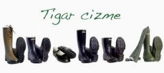 Čizme gumene bez postave - visoka Tigar