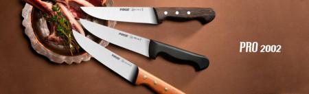 Mesarski nož ravno sečivo i drvena drška 21cm Pirge