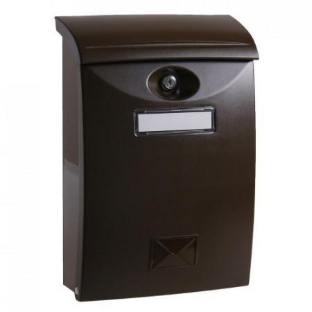 Poštansko sanduče PVC braon boje 24x11x35cm Levior