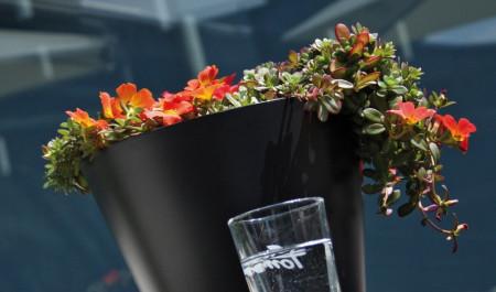 Saksije za cveće TUBUS 25x23cm antracit bez uloška