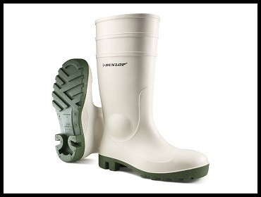 Čizme mesarske bele Dunlop Protomastor Safety