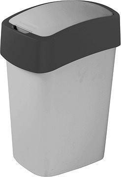 Kanta za smeće 8L siva - metalik Pacific Curver