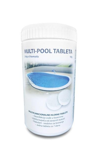 MULTIPOOL 1kg (200g tableta) - hlorne tablete za velike bazene