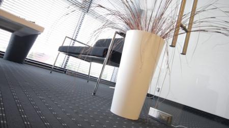 Saksije za cveće TUBUS SLIM 25x48cm bela sa uloškom