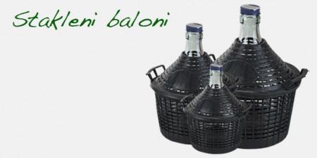 Stakleni balon bez čepa 15L