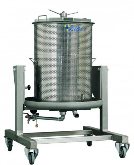 Vodena Inox presa za grožđe 250L Zottel