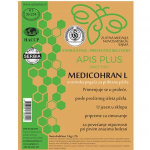 Enzimska pogača za prihranu pčela 1kg Medicohran L 10/1