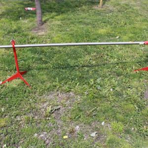 Ražanj komplet na stuju od inoxa, cev 2m