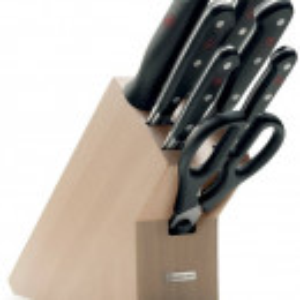 Set 7 noževa i drveni stalak WÜSTHOF CLASSIC - svetli jasen