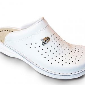 Vrnčane papuče bele Leon