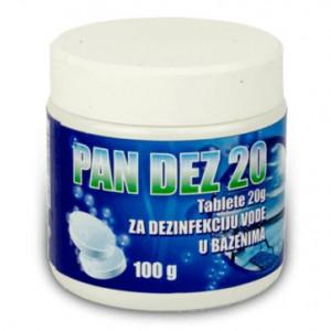 Hlorne tablete za bazen - PAN DEZ 20 100gr