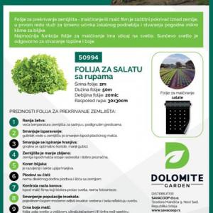 Folija za salatu 2mx50m 20mic 30x30cm Dolomite