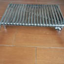 Grill plate with legs and handles 70x40 Inox