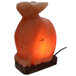 Lampa od himalajske soli - kristalna lampa Zec