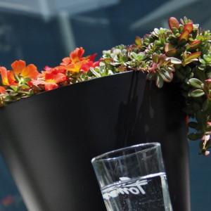 Saksije za cveće TUBUS 30x28cm antracit bez uloška
