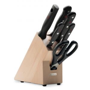 Set 6 noževa i drveni stalak WÜSTHOF GOURMET - bukovina