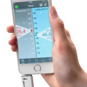 Digitalni termometar higrometar za pametne telefone Smarty