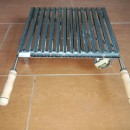 Grill plate with legs and handles  46x40 Inox