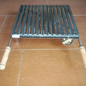 Roštilj ploča sa nogama i ručkama 46x40 Inox