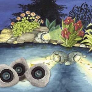 Set reflektora u kamenu PONDO STAR 30 za jezera i fontane