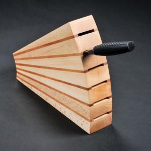 Blok za noževe - Lipa/bukva 270x220x65 mm