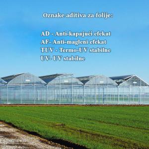 Folija za plastenike 210mic Patilite ( širine 8m, 8,5m, 9m, 10m, 12m)
