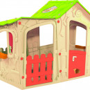 Kućica za decu Magic Villa House - Bež/Zelena