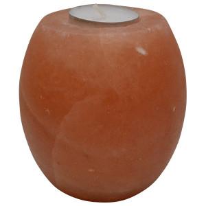 Svećnjak od himalajske soli u obliku bubnja