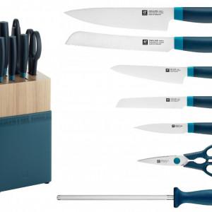 Set noževa NOW S plava boja + drveno postolje 8/1 Zwilling