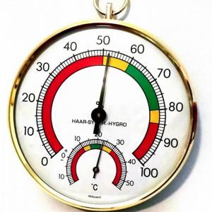 Termometar Higrometar sa polukružnom skalom