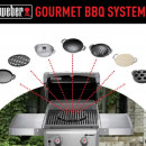 Gourmet BBQ sistem - kamen ploča za pizzu Weber