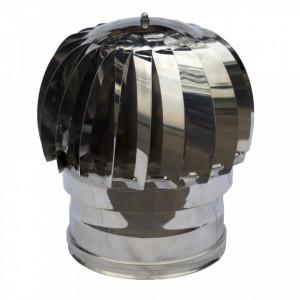 Rotirajuća dimovodna kapa fi14 INOX