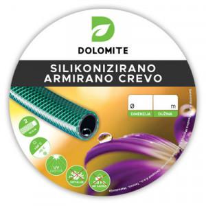 "Armirano silikonizirano pvc crevo 1/2"" 25M - Dolomite"