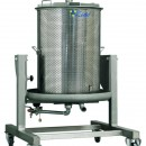 Vodena Inox presa za grožđe 160L Zottel