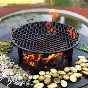 TIGER FIRE otvoreni roštilj 88 Classic Black sa skladištem za drva