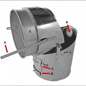 Ložište - brzoparilnik 80L Inox Zottel