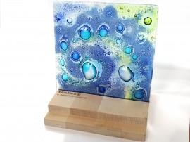 Poze Panou decorativ din sticla fuzionata Galaxy