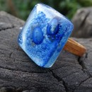 R17023;Inel din lemn si sticla fuzionata; Inel eco frendly din lemn; Inel exclusivist din lemn si sticla; Inel peisaj in sticla de purtat pe deget;Inel din sticla si lemn unicat;Inel autentic din lemn; Inel artistic din lemn