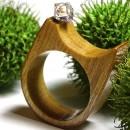 Inel din lemn si cristal Swarovski; Inel eco friendly din lemn; Inel exclusivist din lemn si cristal Swarovski, Inel din sticla si lemn unicat;Inel autentic din lemn Made with Swarovski® Crystals; Wooden ring with Swarovski crystal