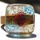 R17050;Inel din lemn si sticla fuzionata; Inel eco frendly din lemn; Inel exclusivist din lemn si sticla; Inel peisaj in sticla de purtat pe deget;Inel din sticla si lemn unicat;Inel autentic din lemn; Inel artistic din lemn