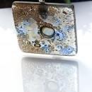 P17001; Pandantiv din sticla fuzionata, Pandantiv peisaj in sticla, Pandantiv unicat, Fused Glass Pendant, Landscape Glass Pendant, One of a kind Pendant, Bijuterie unicat, One of a kind Jewelry