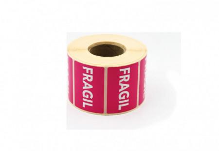 """Rola cu eticheta """"FRAGIL"""" 60x40 mm, autoadezive, 1000 buc"""