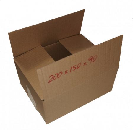 100 buc Cutie carton NATUR 200 x 150 x 90 mm - set 100 buc