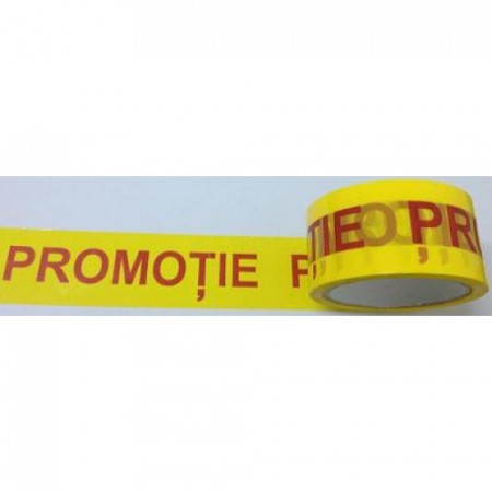 Banda adeziva PROMOTIE tip SILENT - 50 mm x 66 m - 1 buc