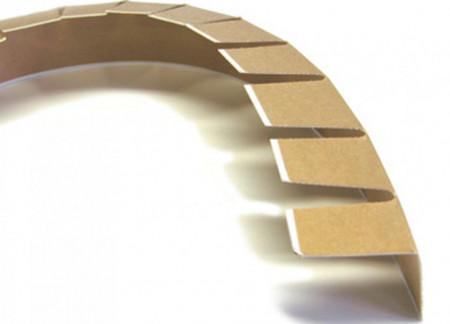 set 25 buc - Coltar carton maleabil 1,6m BIO/Kraft 45x45x4,5 mm